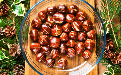 roasted chestnuts, what could be more festive?