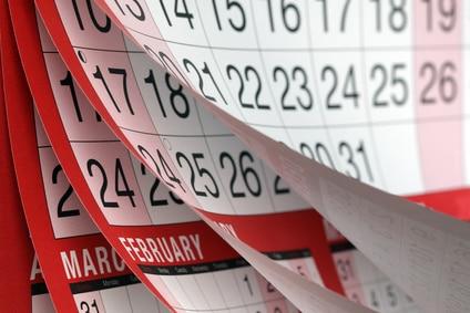 calendar showing months