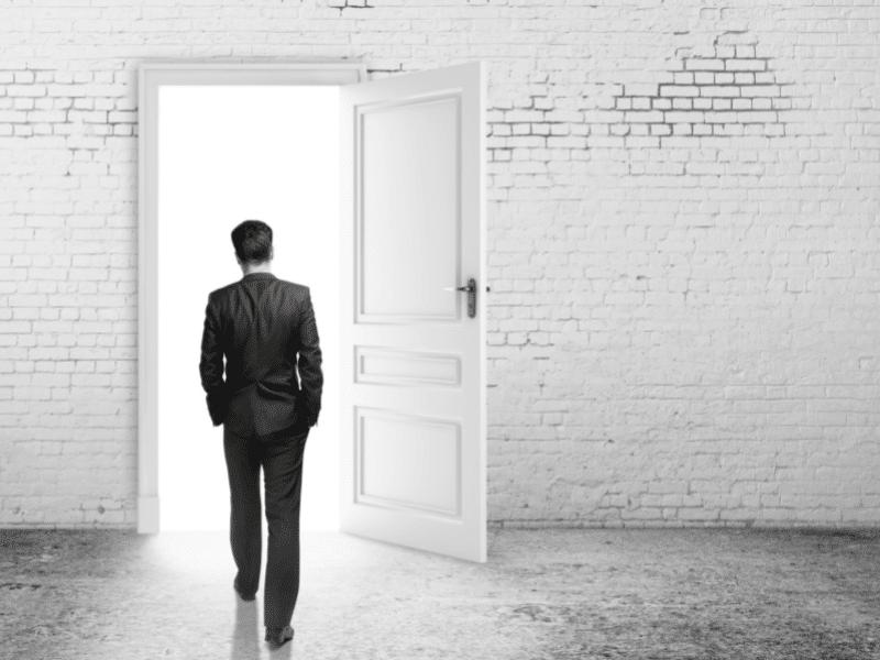 Man getting a foot in the door to a career in digital