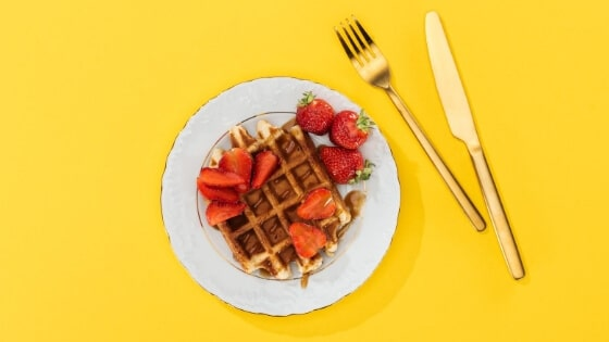 One of our top interviewing tips is don't waffle! Although this one topped with strawberries does look rather delicious