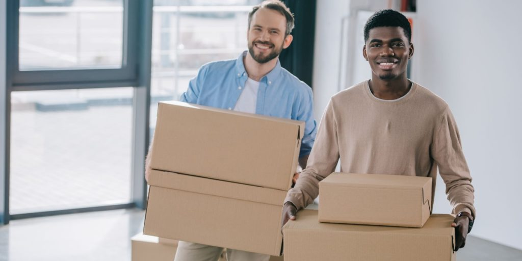 A relocation package has made this manager and his new employee very happy