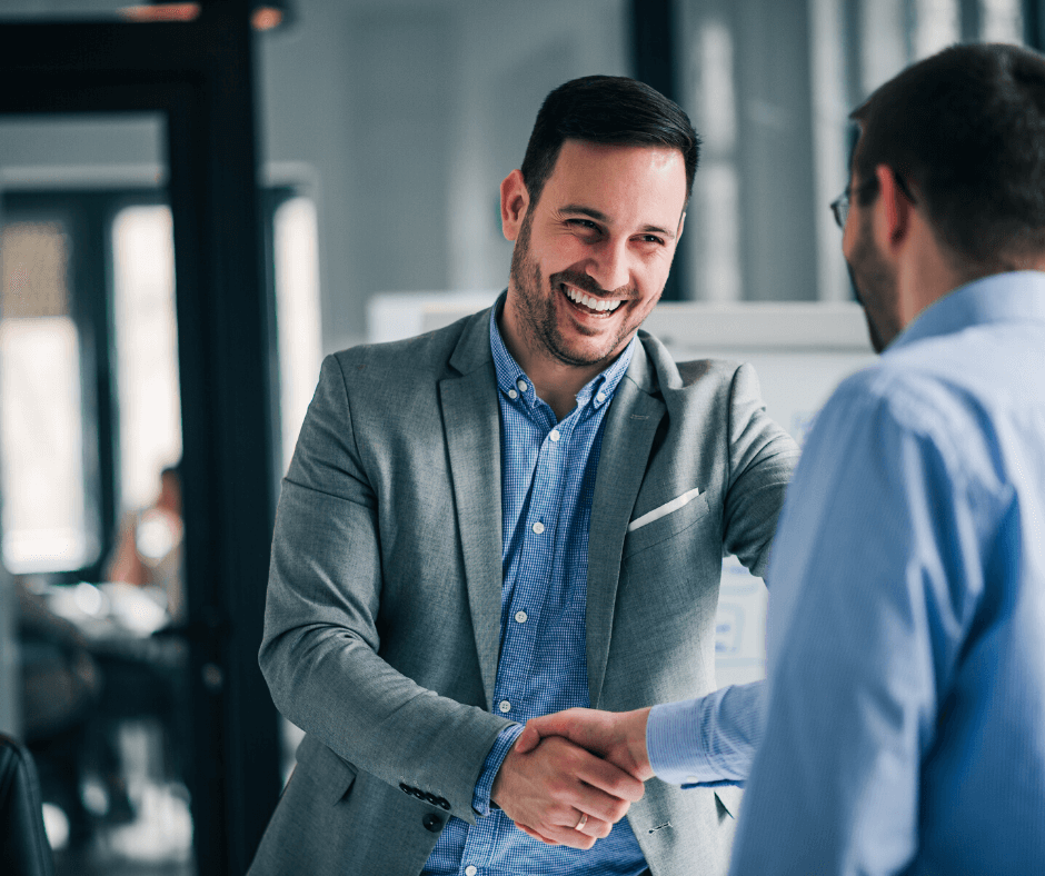 Recruitment Consultant shaking hands with a candidate