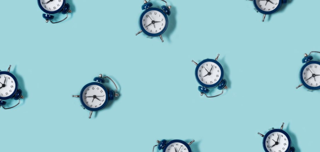 Alarm clocks signifying the need to speed up hiring decisions