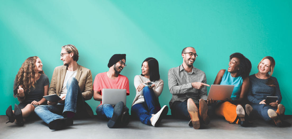 Employees discussing why is diversity important in the workplace