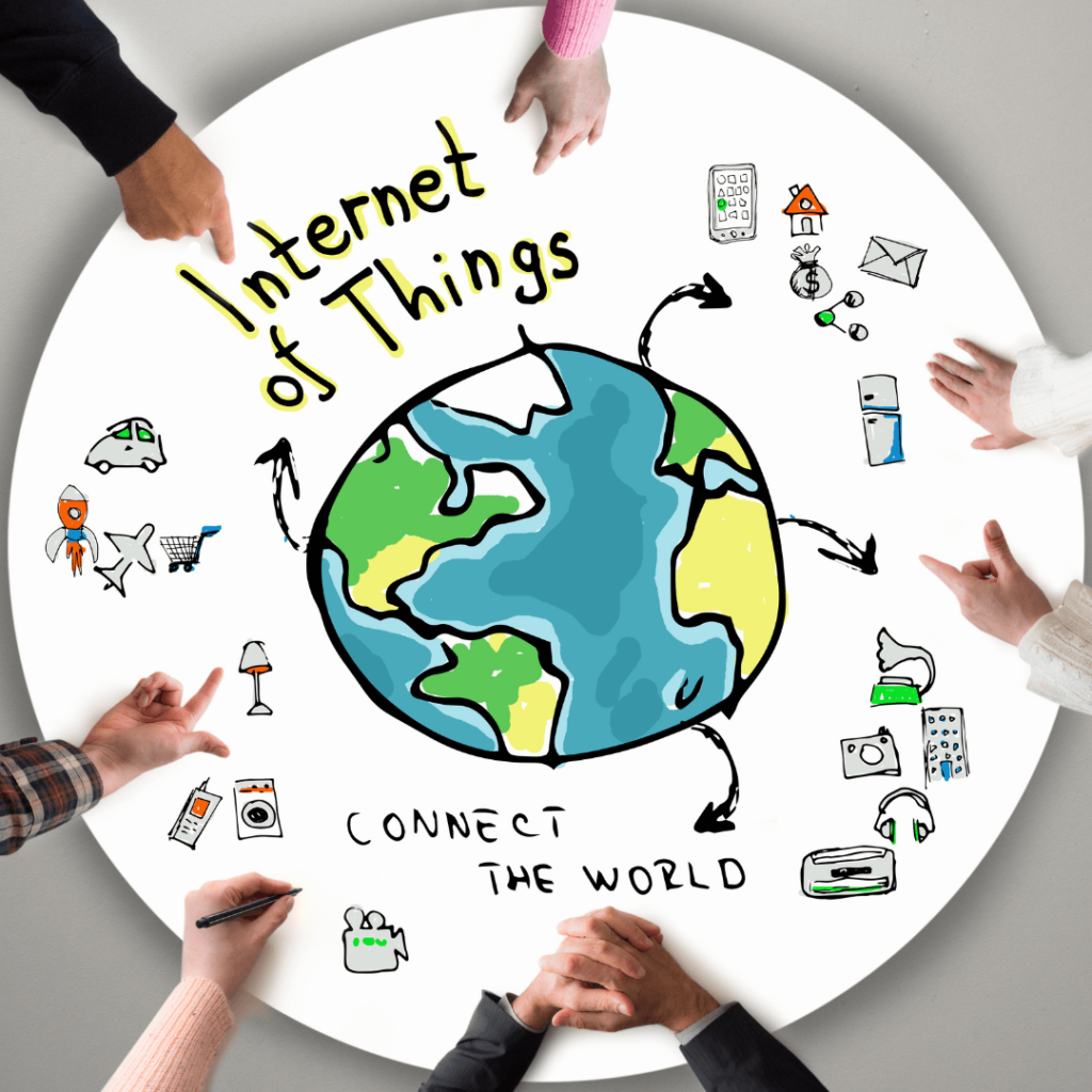 All the things connected by the internet of things